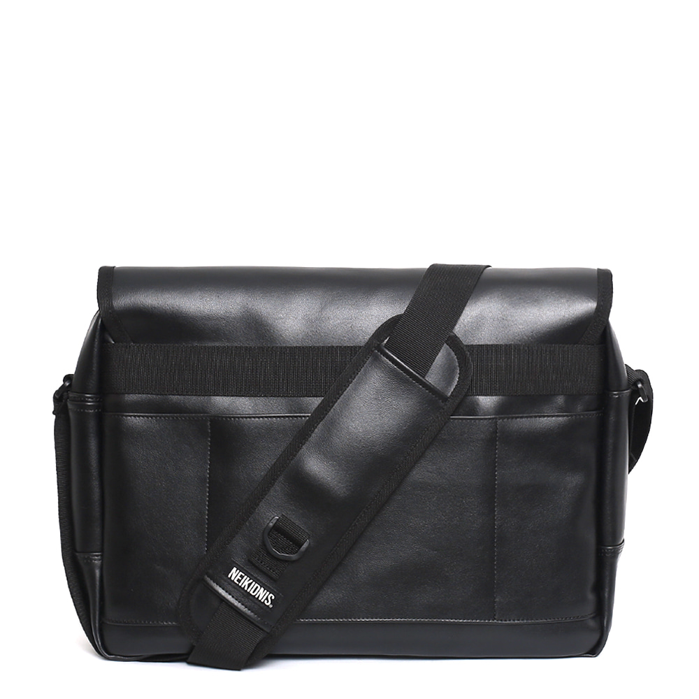 [레더] ICON MESSENGER BAG / LEATHER BLACK