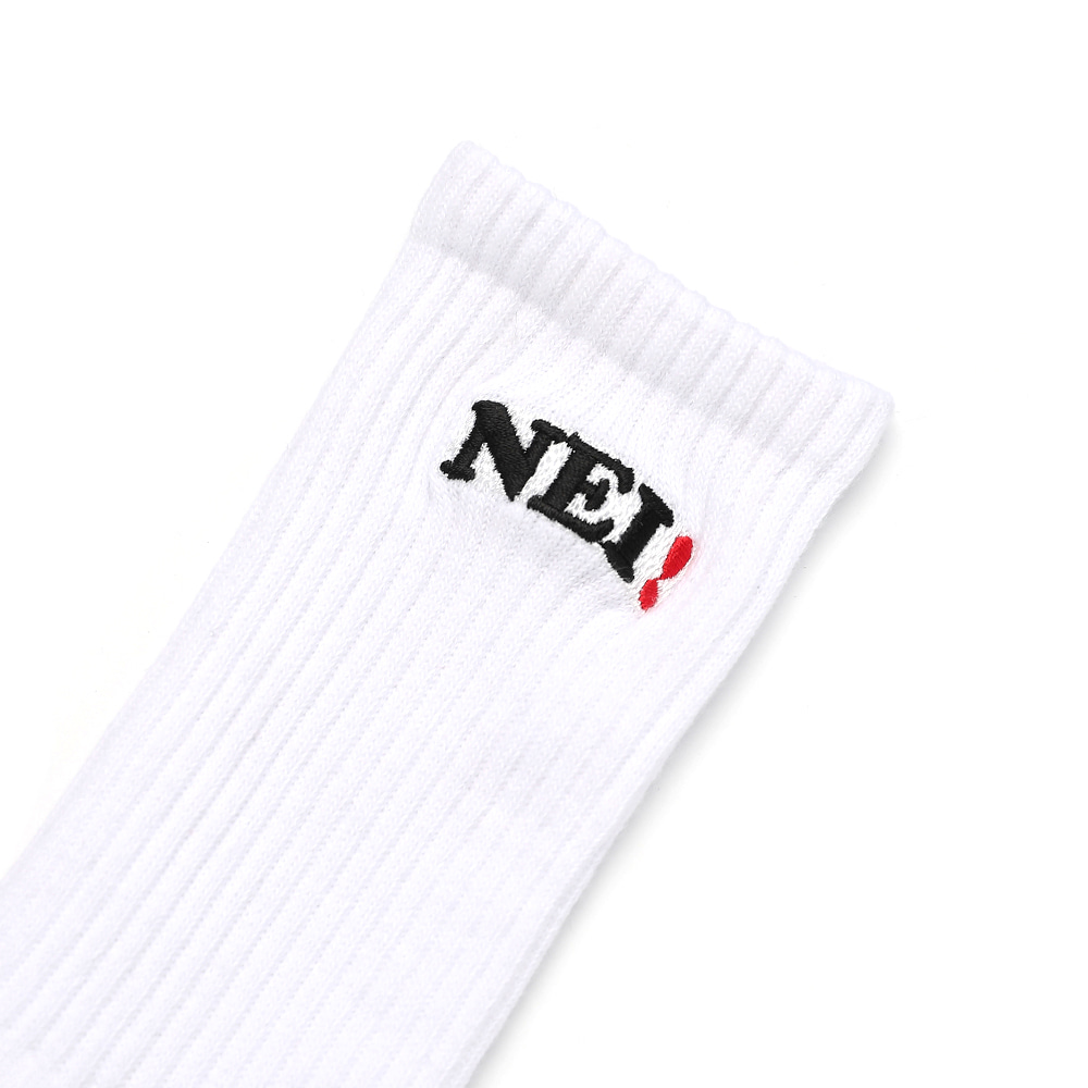 NEI LOGO SOCKS / WHITE
