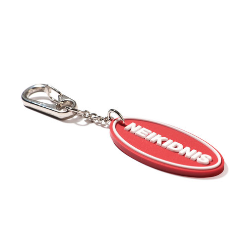 BOLD LOGO RUBBER KEY RING / RED