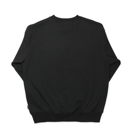 SERIF SWEAT SHIRT / BLACK