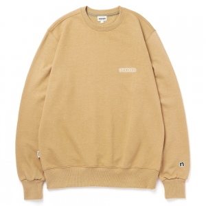 LOGO SWEAT SHIRT / MUSTARD BEIGE