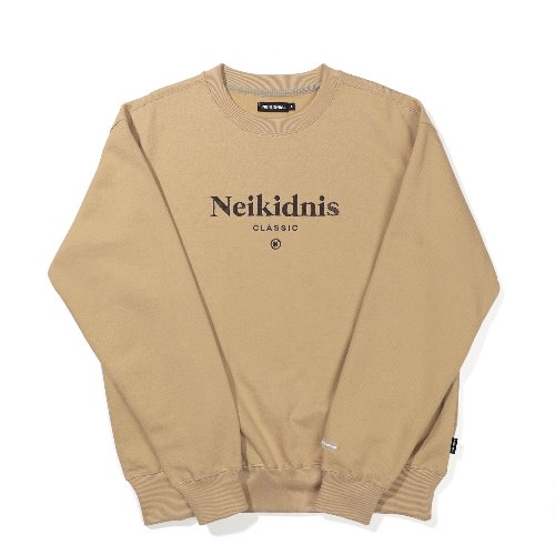 SERIF SWEAT SHIRT / BEIGE